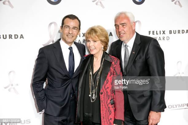 German actor Erol Sander Christa Maar and HansReiner Schroeder attend the Felix Burda Award 2017 at Hotel Adlon on May 14 2017 in Berlin Germany