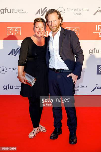 German actor Fabian Busch and his wife Sunny Busch attend the IFA 2016 opening gala on September 1 2016 in Berlin Germany