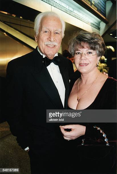 German actor Friedrich Schoenfelder and his wife Berlin Presseball