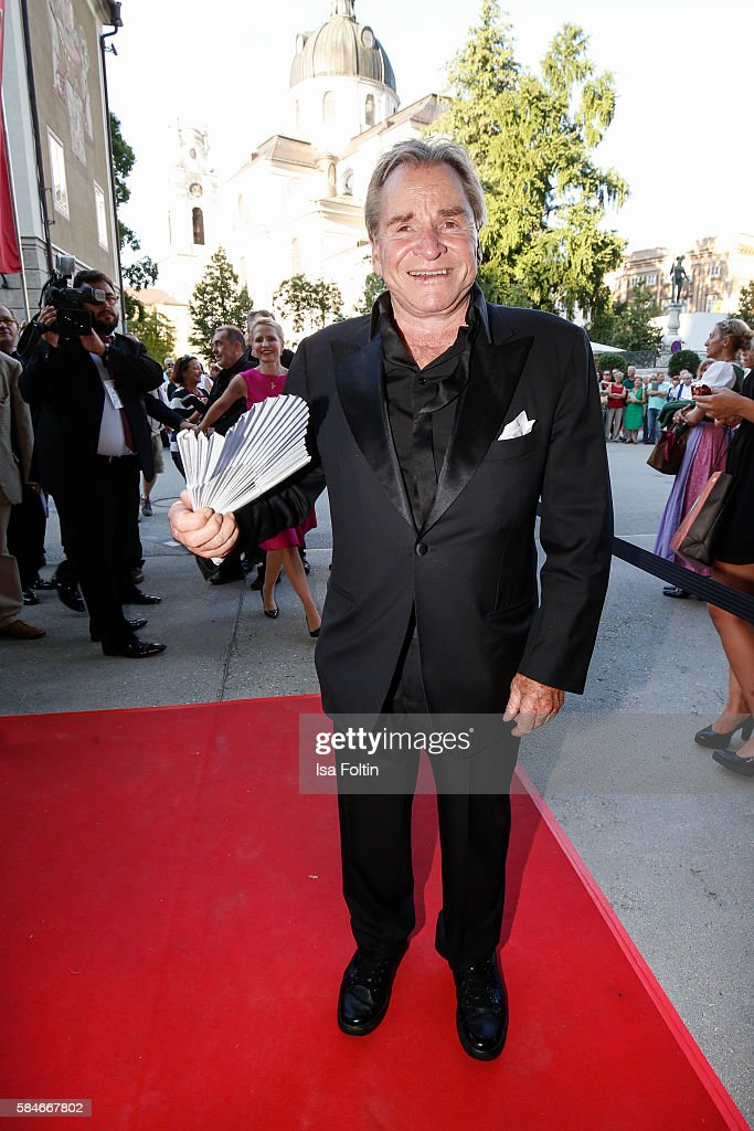German actor Fritz Wepper attends the premiere of the opera 'Cosi Fan Tutte' on July 29 2016 in Salzburg Austria