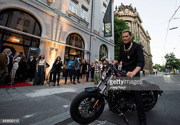 German actor Goetz Otto arrives at the Shocking Shorts Award 2016 Munich Film Festival on June 28 2016 in Munich Germany