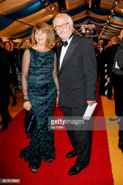 German actor Guenther Maria Halmer and his wife Claudia Halmer during the Bayreuth Festival 2017 State Reception on July 25 2017 in Bayreuth Germany