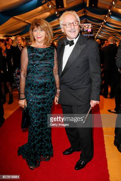 German actor Guenther Maria Halmer and his wife Claudia Halmer during the Bayreuth Festival 2017 State Reception at Neues Schloss on July 25 2017 in...