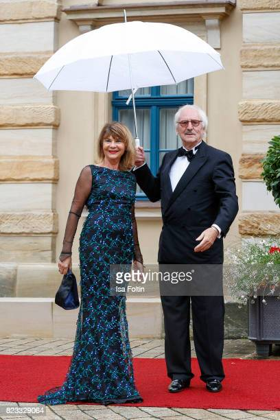 German actor Guenther Maria Halmer and his wife Claudia Halmer attends the Bayreuth Festival 2017 Opening on July 25 2017 in Bayreuth Germany