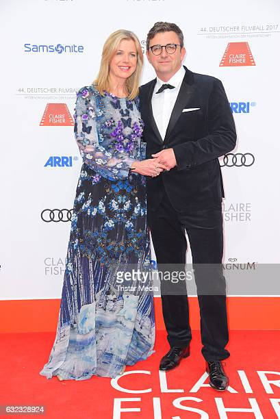 German actor Hans Sigl and his wife Susanne Kemmler attend the German Film Ball 2017 at Hotel Bayerischer Hof on January 21 2017 in Munich Germany