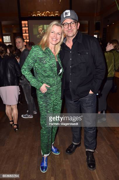 German actor Hans Sigl and his wife Susanne Kemmler during the NdF after work press cocktail at Parkcafe on March 15 2017 in Munich Germany