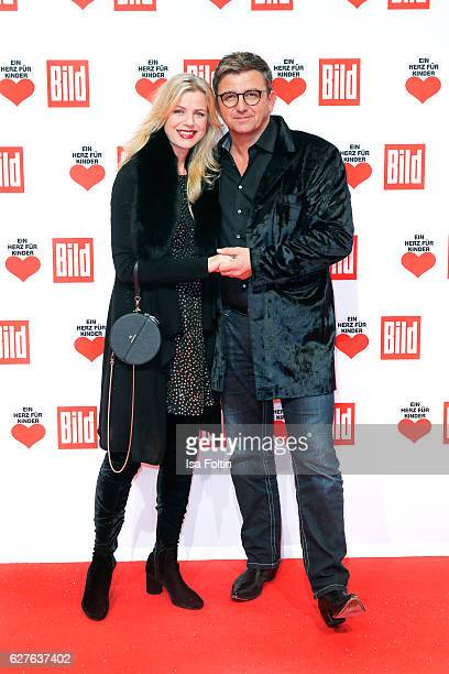 German actor Hans Sigl and Susanne Kemmler attend the Ein Herz Fuer Kinder gala on December 3 2016 in Berlin Germany