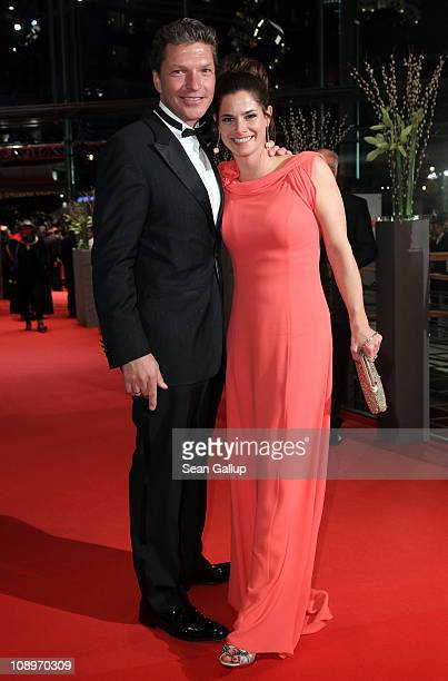 German actor Hardy Krueger Jr and wife Katrin Fehringer attend the 'True Grit' Premiere during the opening day of the 61st Berlin International Film...