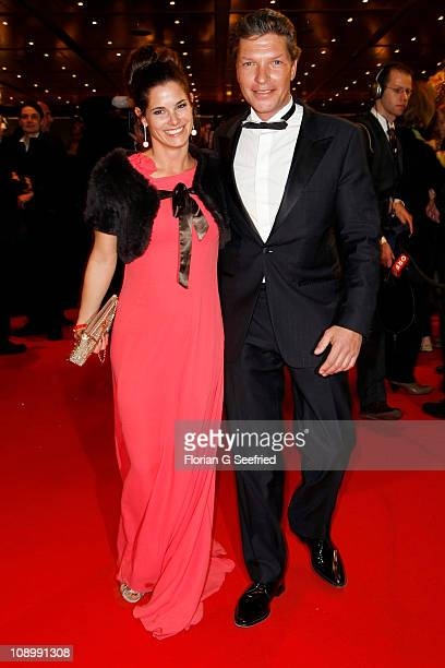 German actor Hardy Krueger Jr and wife Katrin Fehringer attend the Opening Party after the 'True Grit' premiere during the opening day of the 61th...