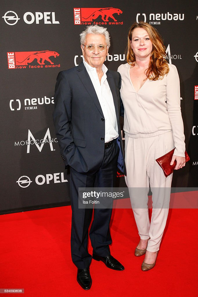 German actor Henry Huebchen and his daughter Nora Huebchen attend the New Faces Award Film 2016 at ewerk on May 26, 2016 in Berlin, Germany.