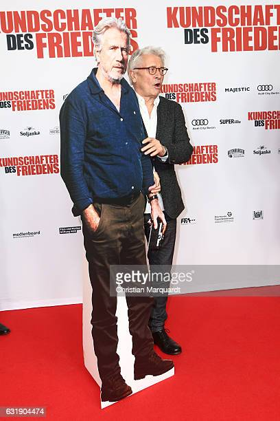 German Actor Henry Huebchen attends the ''Kundschafter des Friedens' Premiere at Kino International on January 17 2017 in Berlin Germany