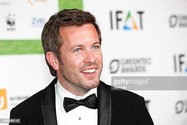 German actor Jan Hartmann attends the Green Tec Award at ICM Munich on May 29 2016 in Munich Germany