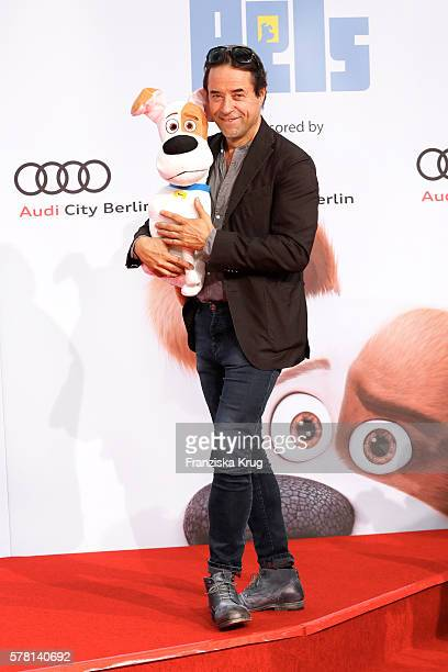 German actor Jan Josef Liefers attends the premiere of the film 'PETS' at CineStar on July 20 2016 in Berlin Germany