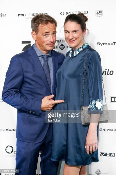 German actor Jan Sosniok and his wife Nadine Moellers attend the GreenTec Awards at ewerk on May 12 2017 in Berlin Germany
