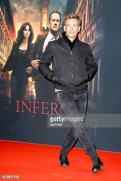 German actor Jan Sosniok attends the German premiere of the film 'INFERNO' at Sony Centre on October 10 2016 in Berlin Germany