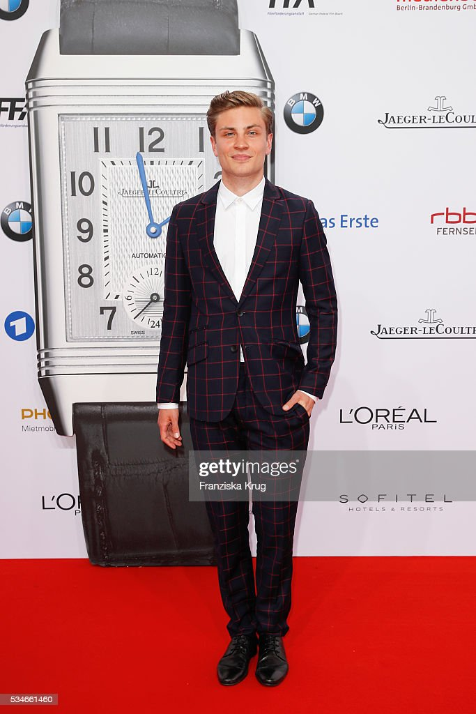 German actor Janik Schuemann during the Lola - German Film Award (Deutscher Filmpreis) 2016 on May 27, 2016 in Berlin, Germany.