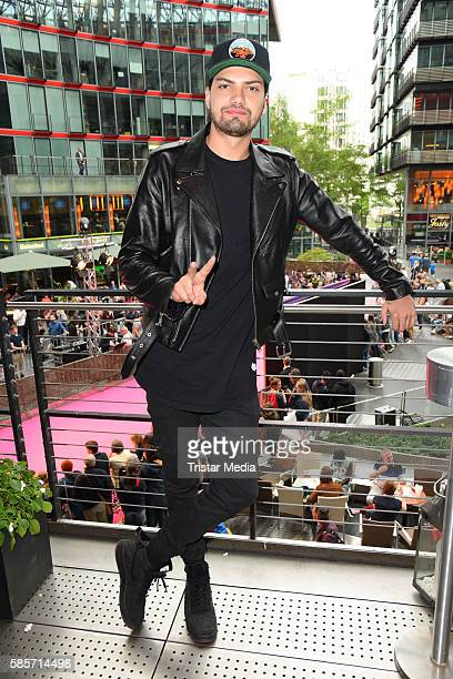 German actor Jimi Blue Ochsenknecht attends the Suicide Squad Live Event at CineStar on August 3 2016 in Berlin Germany