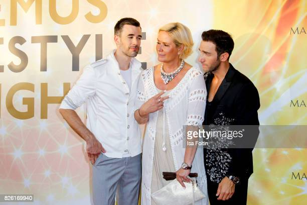 German actor Jo Weil Claudia Effenberg and Marcel Remus attend the Remus Lifestyle Night on August 3 2017 in Palma de Mallorca Spain