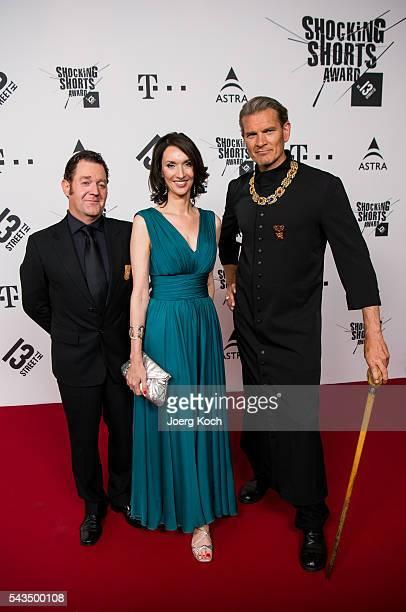 German actor Juergen Tonkel Managing Director NBC Universal International Networks Deutschland Katharina Behrends and German actor Goetz Otto attend...