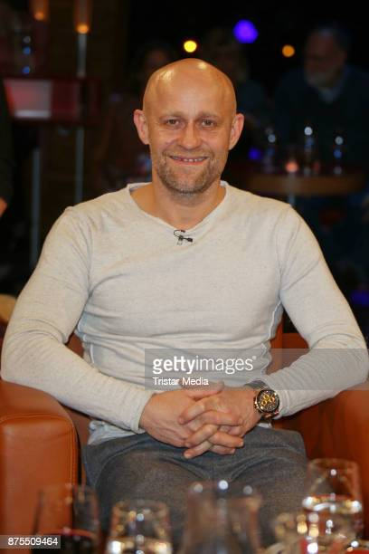 German actor Juergen Vogel attends the NDR Talk Show on November 17 2017 in Hamburg Germany