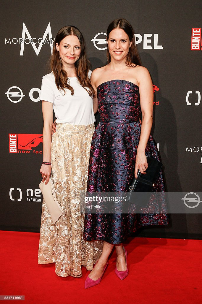 German actor Julia Hartmann and german actor Birthe Wolter (Dress by Talbot Runhof) attend the New Faces Award Film 2016 at ewerk on May 26, 2016 in Berlin, Germany.
