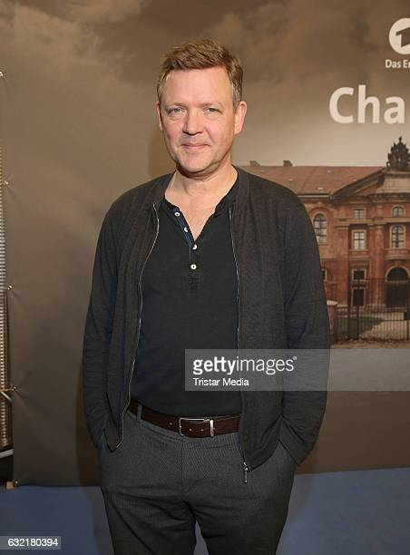 German actor Justus von Dohnanyi attends the photocall for the new event series 'Charite' at East Hotel on January 19 2017 in Hamburg Germany