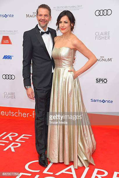 German actor Kai Wiesinger and german actress Bettina Zimmermann attend the German Film Ball 2017 at Hotel Bayerischer Hof on January 21 2017 in...
