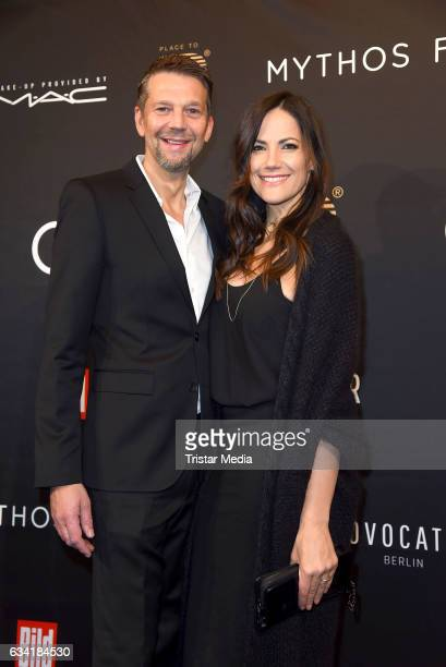 German actor Kai Wiesinger and german actress Bettina Zimmermann attend the PLACE TO B PreBerlinale Dinner at Provocateur on February 7 2017 in...