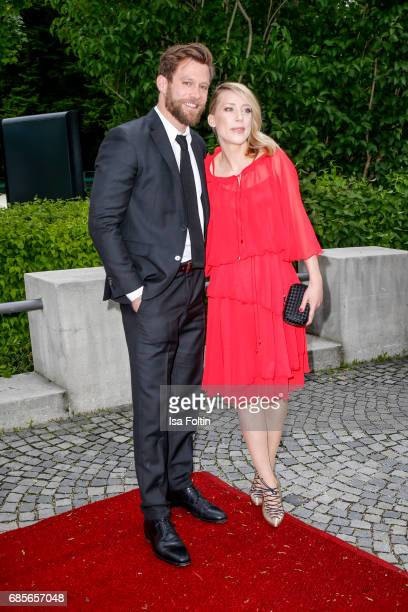 German actor Ken Duken and his wife Marisa Leonie Bach attend the Bayerischer Fernsehpreis 2017 at Prinzregententheater on May 19 2017 in Munich...