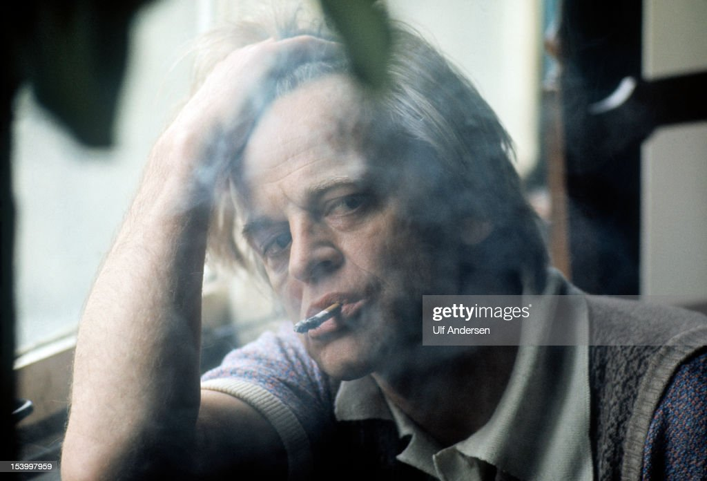 German actor <a gi-track='captionPersonalityLinkClicked' href=/galleries/search?phrase=Klaus+Kinski&family=editorial&specificpeople=926822 ng-click='$event.stopPropagation()'>Klaus Kinski</a> poses during a portrait session held during February 1976 in Paris, France.
