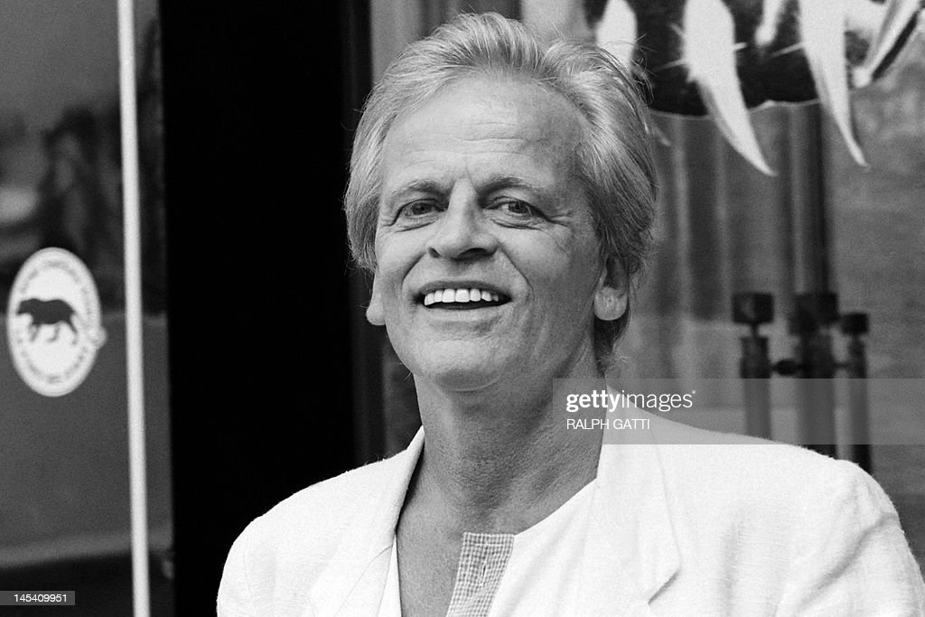 German actor <a gi-track='captionPersonalityLinkClicked' href=/galleries/search?phrase=Klaus+Kinski&family=editorial&specificpeople=926822 ng-click='$event.stopPropagation()'>Klaus Kinski</a> poses during the 38th Cannes International Film Festivalon May 10, 1985. AFP PHOTO RALPH GATTI