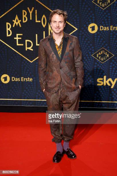 German actor Lars Eidinger attends the 'Babylon Berlin' Premiere at Berlin Ensemble on September 28 2017 in Berlin Germany