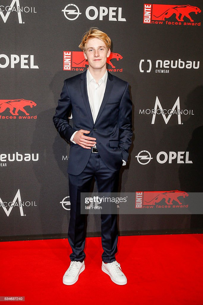 German actor <a gi-track='captionPersonalityLinkClicked' href=/galleries/search?phrase=Louis+Hofmann&family=editorial&specificpeople=7307522 ng-click='$event.stopPropagation()'>Louis Hofmann</a> attends the New Faces Award Film 2016 at ewerk on May 26, 2016 in Berlin, Germany.