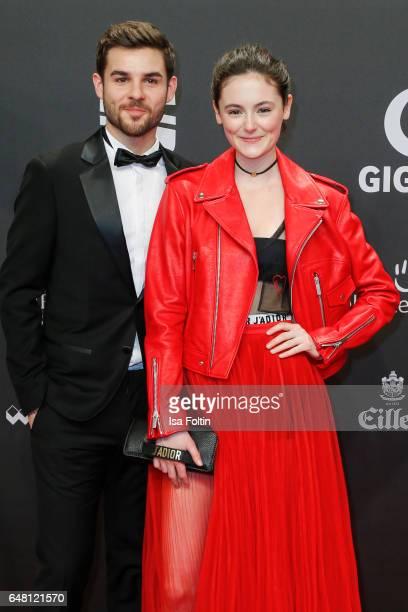 German actor Lucas Reiber and german actress Lea van Acken arrive for the Goldene Kamera on March 4 2017 in Hamburg Germany