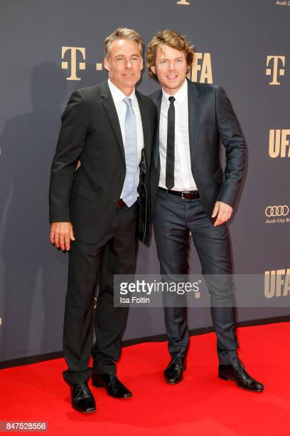 German actor Marco Girnth and German actor Steffen Schroeder attend the UFA 100th anniversary celebration at Palais am Funkturm on September 15 2017...