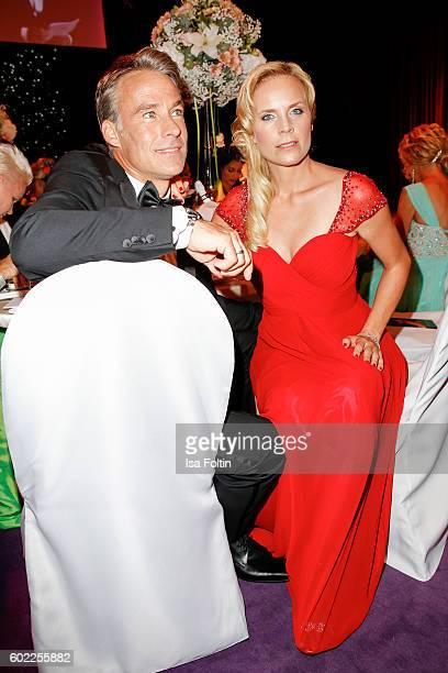 German actor Marco Girnth and german actress Melanie Marschke attend the Leipzig Opera Ball 2016 on September 10 2016 in Leipzig Germany