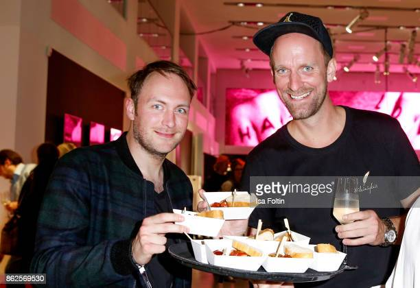 German actor Martin Stange and German actor and influencer Daniel Termann attend the Clich'e Bashing 'Beef mit den Veggies' at DRIVE Volkswagen Group...