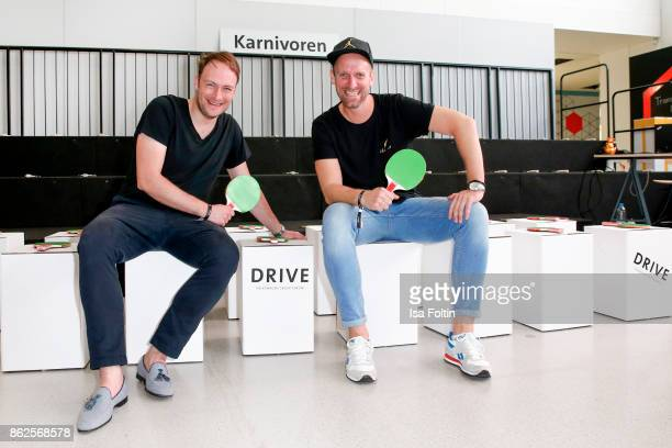 German actor Martin Stange and German actor Daniel Termann attends the Clich'e Bashing 'Beef mit den Veggies' at DRIVE Volkswagen Group Forum on...