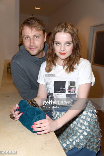 German actor Max Riemelt and german actress Jella Haase attend the BIDI BADU by Kilian Kerner Presentation at Ellington Hotel on March 28 2017 in...