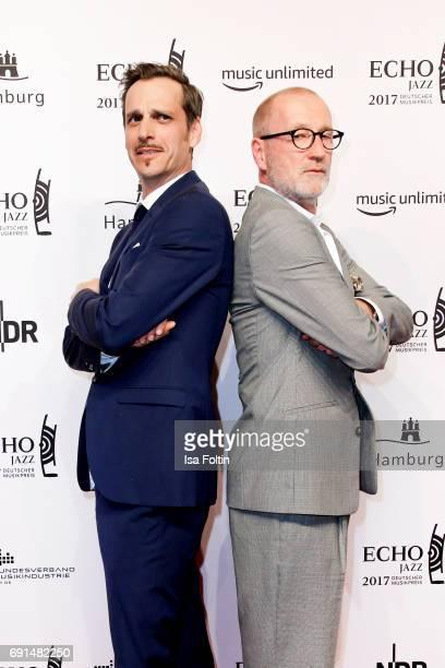 German actor Max von Thun and german actor Peter Lohmeyer during the Echo Jazz 2017 onJune 1 2017 in Hamburg Germany