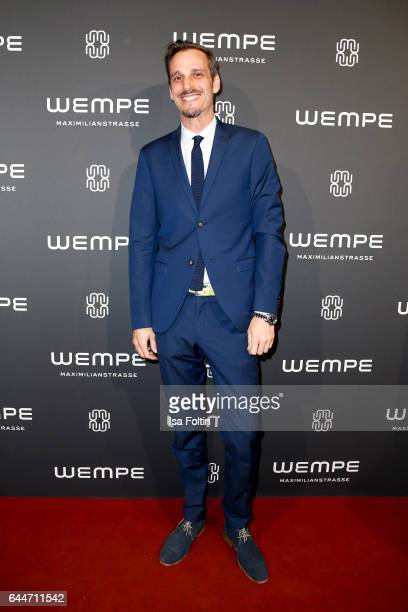 German actor Max von Thun attends the Wempe store opening with the Rolls Royce shuttels in front of the store on February 23 2017 in Munich Germany