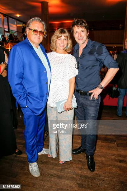 German actor Michael Brandner German actress Valerie Niehaus and German actor Bruno Eyron during the summer party 2017 of the German Producers...