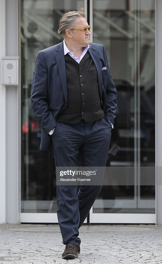 German Actor Michael Brandner is seen in front of his Hotel on April 28, 2013 in Ilseburg, Germany. Actor and director George Clooney will shoot his current project 'The Monuments Men' on April 29, 2013 in the city of Goslar, Germany.