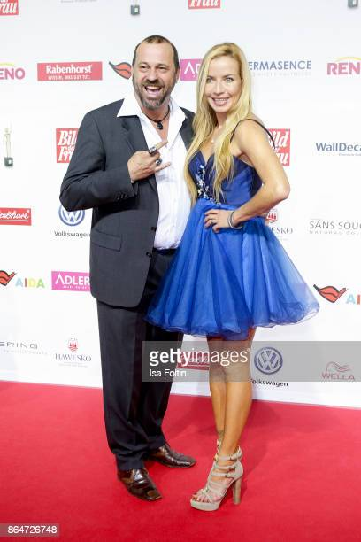 German actor Michel Guillaume and his girlfriend Georgia Carina Schultze attend the 'Goldene Bild der Frau' award at Hamburg Cruise Center on October...