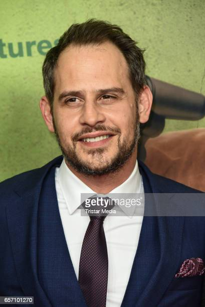 German actor Moritz Bleibtreu during the premiere of the film 'Lommbock' at CineStar on March 23 2017 in Berlin Germany