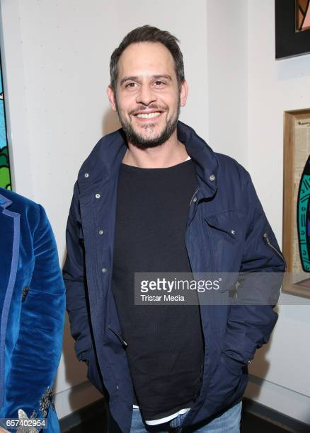 German actor Moritz Bleibtreu during the Vernissage 'Have A Coke With Romero Britto' in the Mensing galery on March 24 2017 in Hamburg Germany