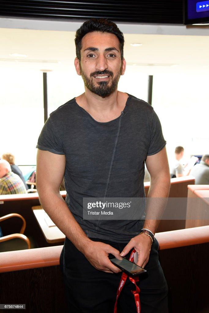 German actor Mustafa Alin (GZSZ) attends the 'BILD Renntag' at Trabrennbahn on May 1, 2017 in Gelsenkirchen, Germany.