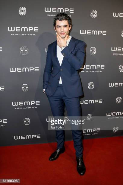 German actor Nik Xhelilaj attends the Wempe store opening on February 23 2017 in Munich Germany