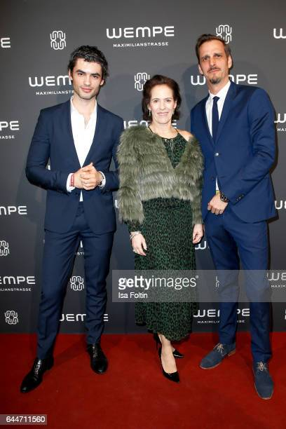 German actor Nik Xhelilaj KimEva Wempe and german actor Max von Thun attend the Wempe store opening with the Rolls Royce shuttels in front of the...