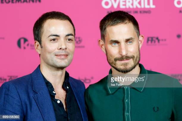 German actor Nikolai Kinski and German actor Clemens Schick attend the 'Axolotl Overkill' Berlin Premiere at Volksbuehne RosaLuxemburgPlatz on June...